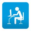Etiqueta tipo app simbolo cibercafe