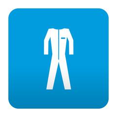 Etiqueta tipo app azul simbolo ropa de trabajo