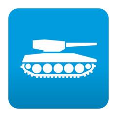 Etiqueta tipo app azul simbolo tanque