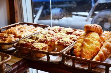 Bakery at Thamel market street Kathmandu Nepal