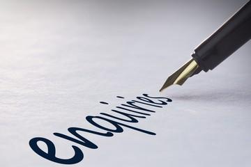 Fountain pen writing Enquiries