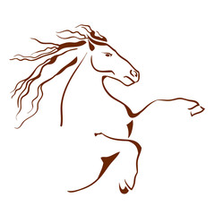 Horse symbol. Vector illustration