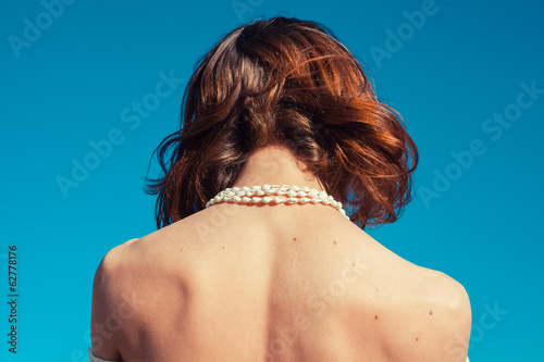 Young woman sunbathing