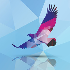 Geometric polygonal eagle, pattern design, vector