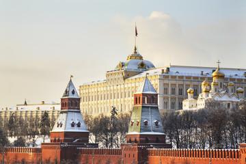 Большой Кремлевский дворец в Московском Кремле. Москва. Россия