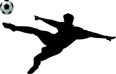 Fussballer Fussballspieler Schuss