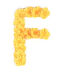Letter F flower alphabet.
