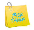 risk taker post message illustration design