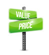 value and price small sign illustration design