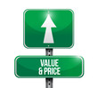 value and price sign illustration design