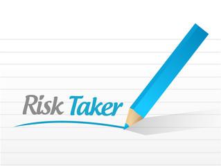 risk taker message illustration