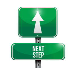 next step sign illustration design