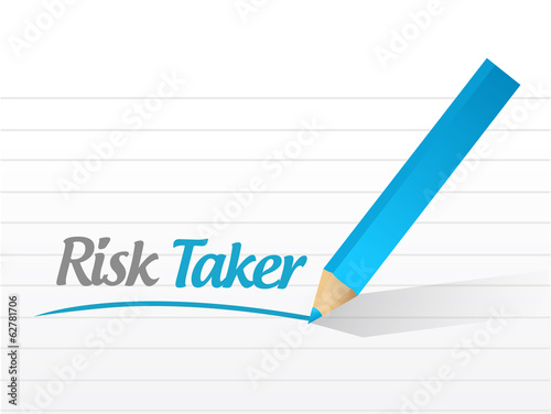 risk taker message illustration