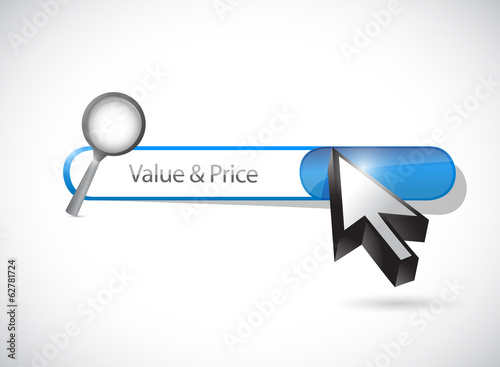value and price search bar illustration design