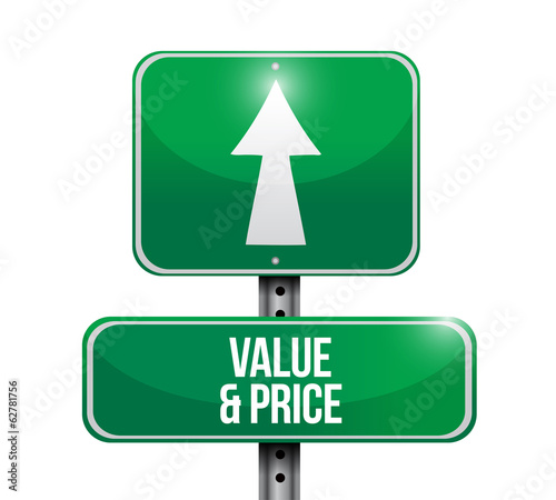 value and price sign illustration design