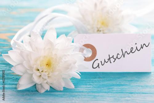 Label with Gutschein