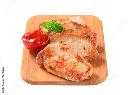 Pan-fried pork