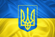 Ukrainian flag and the Coat of arms
