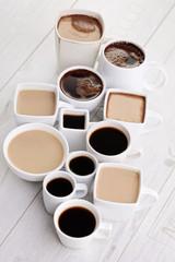 black or white coffee