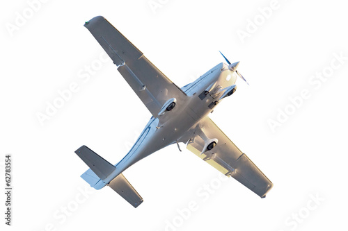 Small tourist plane isolated on white