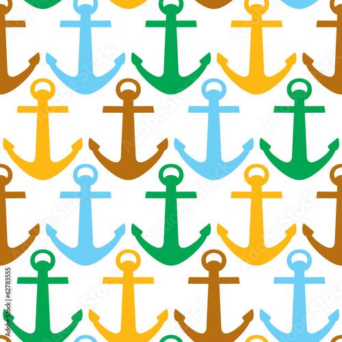 Fototapeta anchor pattern