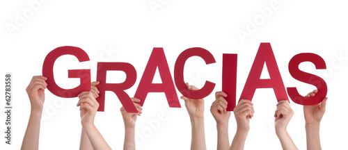 Hands Holding red Gracias