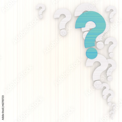 3d render of a decorative question background with pictogram