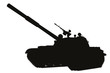 Tank detailed silhouette. Vector