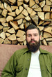 Wooden Wall and bearded Men