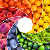 Fototapety fruit backgrounds as a shutter - healthy eating concept