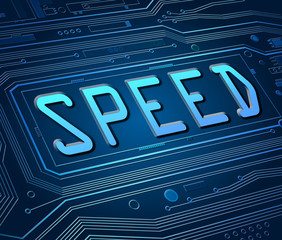 Speed concept.