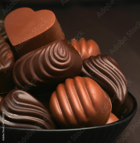 chocolate assorted with background