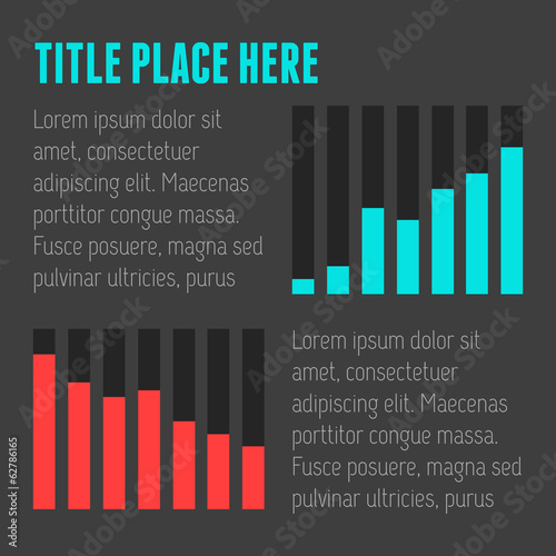 Flat Infographic Elements. Vector Illustration EPS 10.