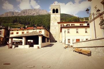 Bormio, Italy. Cross processed color tone.