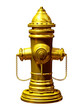 Fireplug in gold