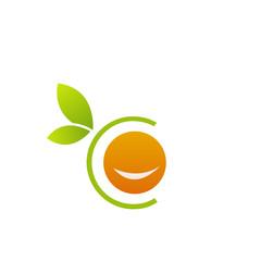 Smiling orange in alphabet C- citrus fruit logo