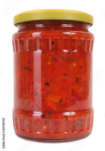Ajvar chutney relish homemade product