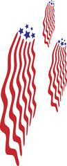 American Flag Rockets
