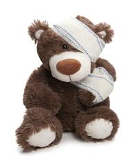 ours teddy blessé