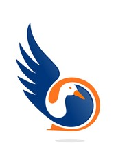Duck Letter D logo