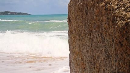 rock on sea background
