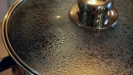 Boiling Water. Bubbles rising to the top of pot.
