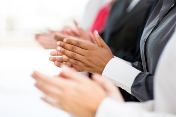 business group applauding