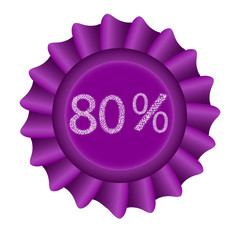 Pink Vector Label - 80%