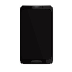 vector illustration of a mobile phone black. eps10