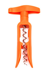 orange plastic corkscrew
