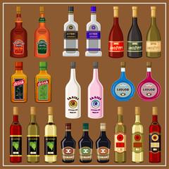 Set alcoholic beverages