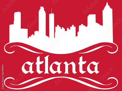 Atlanta - name and city silhouette