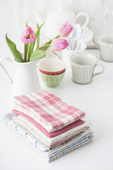 布巾 チューリップ 食器