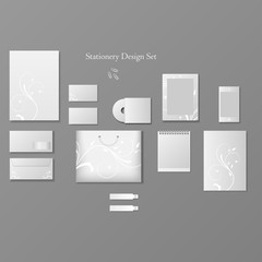 Stationery design set.